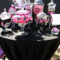 Pink And Black Wedding Pink And Black Party Ideas, Fuschia Black