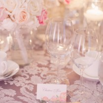 Pink Lavender And Cream Reception Decor