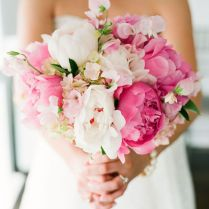 Pink Ombre Peonies And Hydrangea Wedding Bouquet
