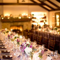Plum Lavender And Cream Reception Decor