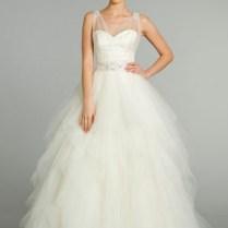 Popular Sheer Top Wedding Dress