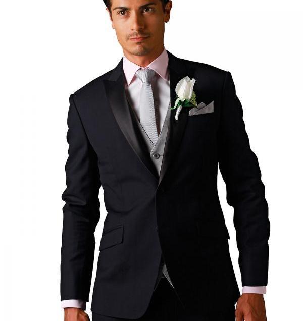 Popular Silk Groom Wedding Suit