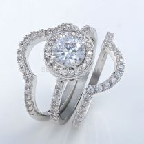 Popular Triple Band Wedding Ring Set