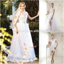 Popular Two Piece Wedding Dress Removable Skirt