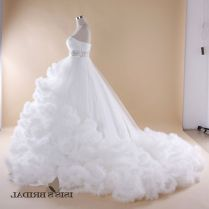 Puffy White Wedding Dresses With Diamonds