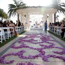 Purple Carpet In Beautiful Garden Wedding Ideas