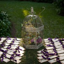 Purple Wedding Table Decor