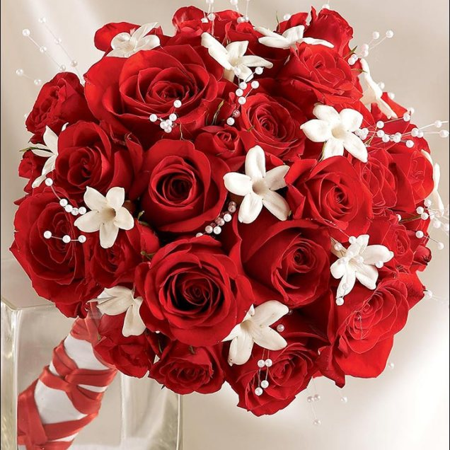 Red And White Wedding Flowers Pictures