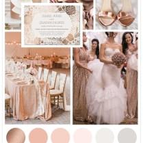 Rose Gold Inspired Wedding Theme