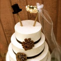 Rustic Country Wedding Cake Toppers