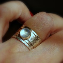 Simone Unique Rustic Stackable Moonstone Wedding Ring On Storenvy