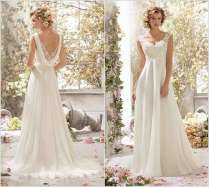 Stylish Board Stunning Cowl Back Wedding Dresses For Brides