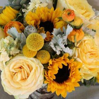 Sunflower Wedding Bouquets & Centerpieces