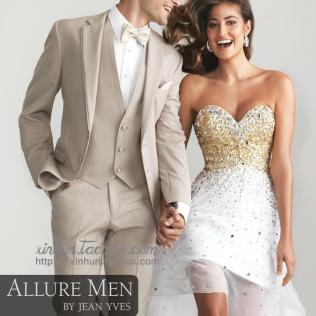 Tan Suits For Wedding Custom Beige Wedding Suit For Men Notched