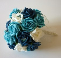 Teal Bridesmaid Bouquet
