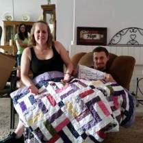 This Couple Got A Handmade Quilt As A Wedding Gift And The Design