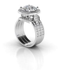 Timeless Halo Diamond Wedding Band