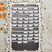 Vintage White Wedding Reception Seating Chart Idea