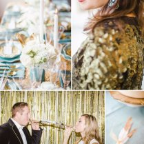 Wedding Color Inspiration Mint, Gold, And Classic Black & White