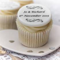 Wedding Cupcake Toppers See Wrapper And Topper Colors Here 7