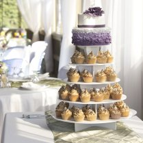 Wedding Cupcakes Were Salted Caramel With A 2 Tier Ombre Ruffle