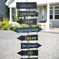 Wedding Direction Signs Bird Damask Wedding Reception Ceremony