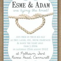Wedding Invitations Nautical Theme