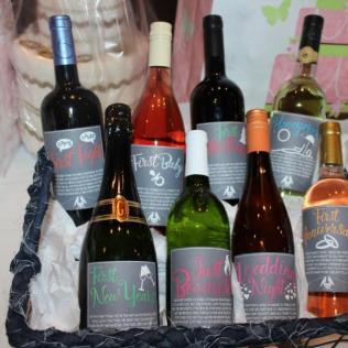 Wedding Milestone Wine Labels Wine Labels Bridal Shower Wedding