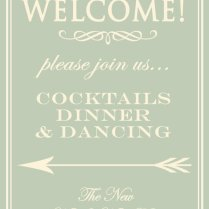 Wedding Reception Welcome Sign Board Poster Diy By Bthehostess