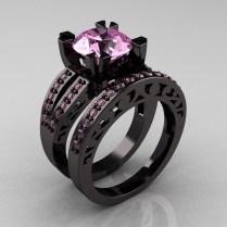 Wedding Rings Black Metal Wedding Rings