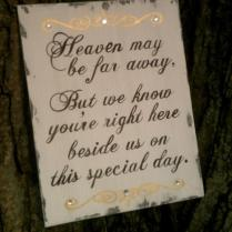 Wedding Sign, Heaven, In Memory Sign, Remembrance, Gold Wedding
