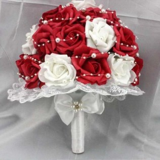 White And Red Rose Flowers Images