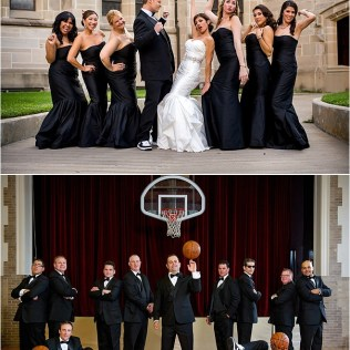 White, Red And Black Wedding At The Crystal Ballroom At The Rice