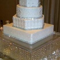 White Wedding Cakes With Rhinestoneswedding Gallery