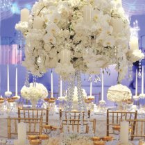 White Wedding Table Decorations