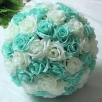 Wholesale!!! 8 20cm Tiffany Blue Wedding Silk Flowers