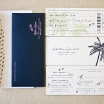 Wonderful Boarding Pass Wedding Invitations
