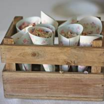 Wooden Crate Box Wedding Centrepiece By The Wedding Of My Dreams