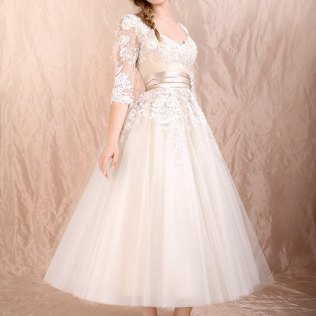 1000 Images About Tea Length Wedding Dresses On Emasscraft Org