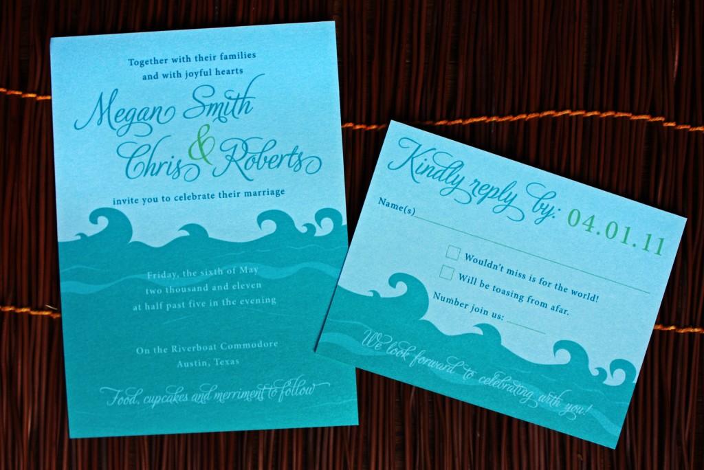 River Themed Wedding Invitations