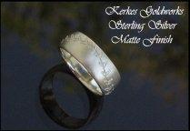 14 Kt Gold Hand Stitched Baseball Ring Engagement Wedding Band
