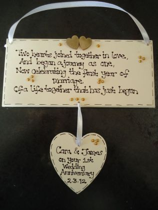 1st First Wedding Anniversary Candle Gift For Couple Wife Husband