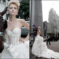 2015 Vestido De Novia Wedding Dresses See Through Spring Draped
