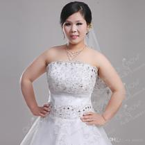 2016 Lace Wedding Dresses Custom Made For Chubby Ladies