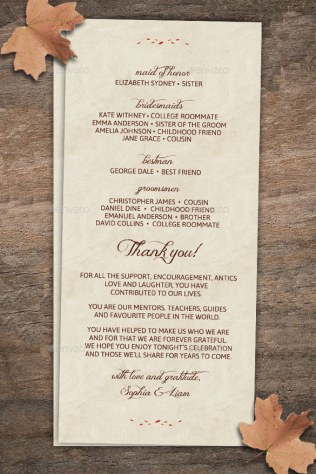 24 Fall Wedding Invitation Templates – Free Sample, Example