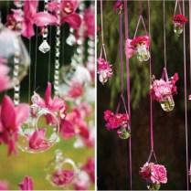 24 Inspiring Pink And Purple Hanging Wedding Decor Ideas