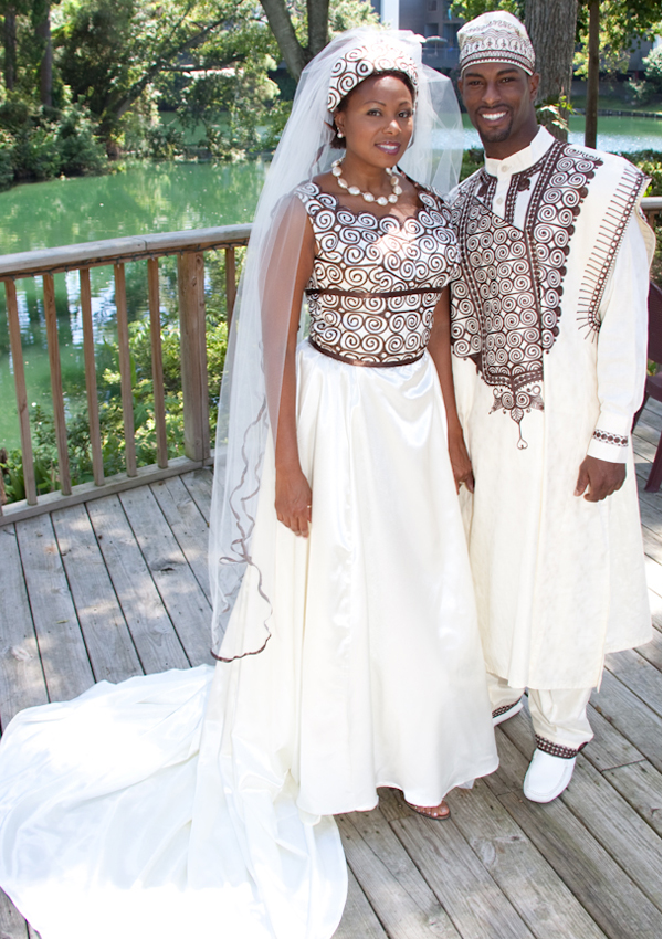 African Style Wedding Dress