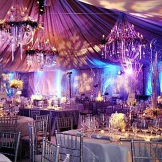 All Silver Winter Wedding Made Dramatic With The Purple And Aqua