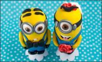 Amy & Erik Minion Wedding Cake Toppers