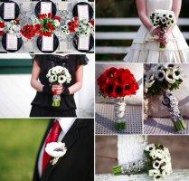 Anemone Wedding Flowers Red White Black